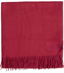 max mara camel scarf in red