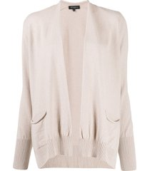antonelli draped knitted cardigan - neutrals