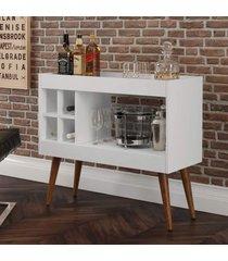 aparador bar com adega laguna - branco - rpm móveis