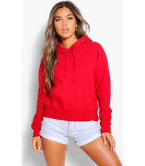 petite basic hoodie, rood