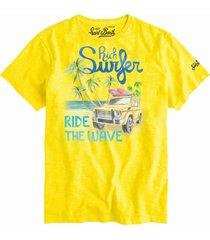 mc2 saint barth rich surfer yellow mans t-shirt