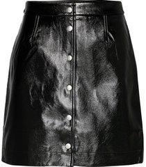high shine mini skirt kort kjol svart calvin klein jeans