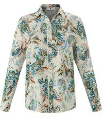 blouse lange mouwen en paisleyprint van anna aura wit