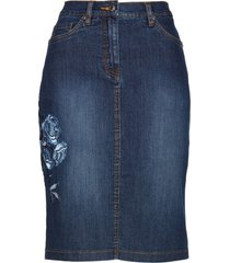 gonna di jeans con ricamo (blu) - bpc selection
