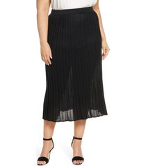 plus size women's ming wang pointelle knit skirt