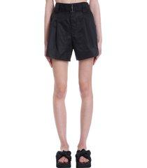 ganni shorts in black nylon