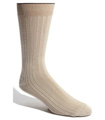 men's nordstrom men's shop cotton blend socks, size x-large - beige