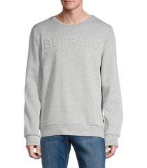 buffalo david bitton men's finn regular-fit sweatshirt - grey - size xl