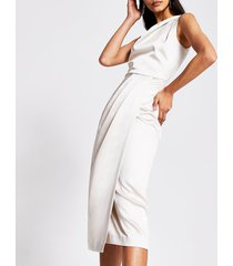 river island womens silver double strap midi dress