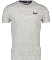 superdry t-shirt vintage lichtgrijs gemeleerd