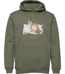 lynx hooded sweatshirt hoodie trui groen makia