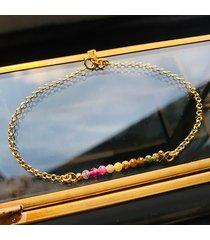 bransoletka z turmalinu , kolorowe kamienie