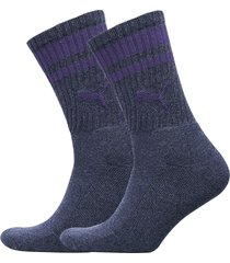 puma crew heritage stripe 2p unisex underwear socks regular socks blå puma