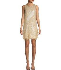 allegra sleeveless silk shift dress