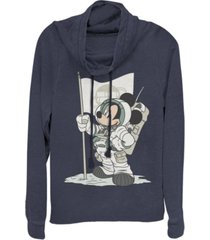 fifth sun juniors disney mickey classic astro mickey fleece cowl neck sweatshirt