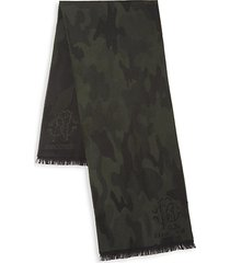 wool-blend camo scarf