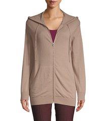 wool & cashmere zip hoodie