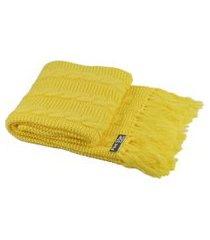 peseira com franja cama king sala sofa 260cmx60cm cod 1032.6 amarelo