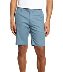 men's ted baker london cortrom slim fit shorts, size 38r - blue