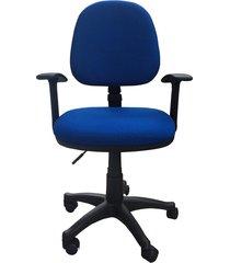 silla de oficina lizza media contac  azul con brazos  ref: 2001