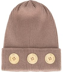 0711 meribel knitted beanie hat - brown