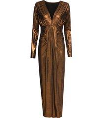 abito lungo metallizzato (marrone) - bodyflirt boutique