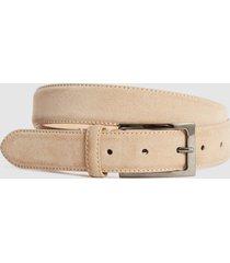reiss joopy - suede belt in sand, mens, size 36