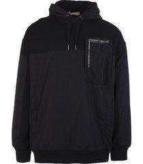 man black bimaterial givenchy hoodie