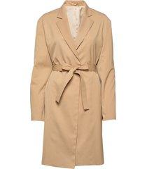 amie jacket dunne lange jas beige filippa k