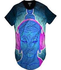 camiseta di nuevo longline psicodélico azul dj buda efeitos preta