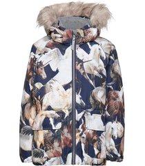 cathy fur gevoerd jack multi/patroon molo