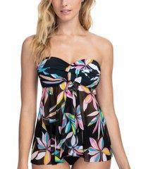 profile by gottex paparazzi printed flyaway tankini top women's swimsuit