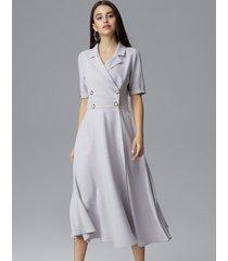 sukienka dwurzędowa midi
