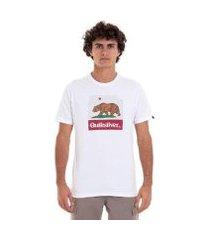 camiseta m/c ca bear - branco - g