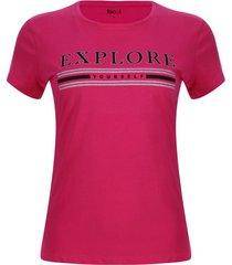 camiseta explore color rosado, talla l