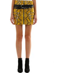 ben taverniti unravel project yellow python leather skirt