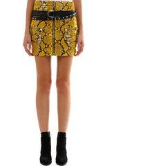 ben taverniti unravel project yellow python leather skirt