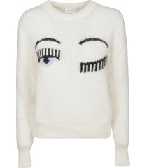 chiara ferragni r-neck flirting sweater