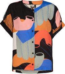 boheme top utopia t-shirts & tops short-sleeved multi/mönstrad papu