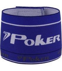 braçadeira de capitão elástica poker - azul