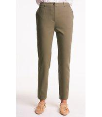 oliwkowe spodnie z bawełną
