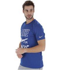 camiseta nike breathe run top ss gx - masculina - azul
