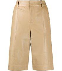 vince wide leg bermuda shorts - neutrals