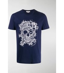 alexander mcqueen skeleton-print t-shirt