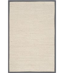 safavieh natural fiber marble and dark gray 5' x 8' sisal weave area rug
