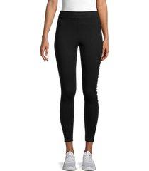 calvin klein jeans women's logo leggings - black white - size m