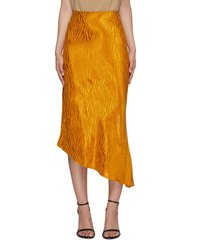 'maeve' tiger print asymmetric slip skirt