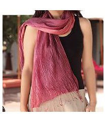 pin tuck scarf, 'plum transition' (thailand)