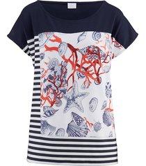 shirt alba moda marine/wit