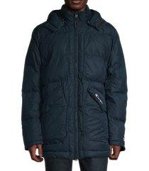 champion men's hooded puffer jacket - jeweled jade - size xxl
